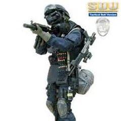 Standard Battle Uniform with equipment.