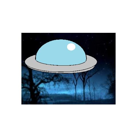 The UFO flew.