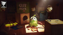 Om nom cut the rope 3dtotal excellence award by dmaghar d7o2mvs-fullview