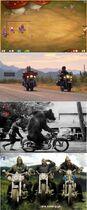 Bikers ride