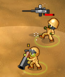 Minitroopers Death Grip vs Shock grenade