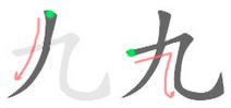 九 (書方灋ᅗᅩ)