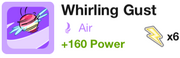 Whirling gust