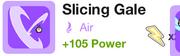 Slicing gale