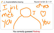 Draw It Rodney singing call me maybe