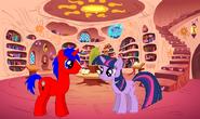 Red Fork y Twilight en la biblioteca