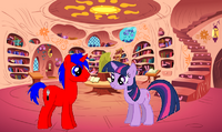 Red Fork y Twilight en la biblioteca