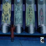 Aggregor con los cuatro alienígenas capturados
