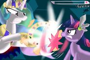 Twilight vs celestia by sileresp-d4s8fbx