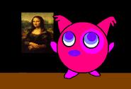 Pinky mostrando su pintura