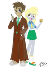 Equestria girls doctor whooves and assistant by reg d fanfiction-d6y0cwf
