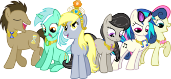 The background mane 6 elements of harmony by jaybeebug-d61ml47