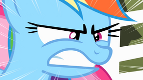 Rainbow Dash is furious S2E15