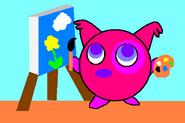 Pinky pintando