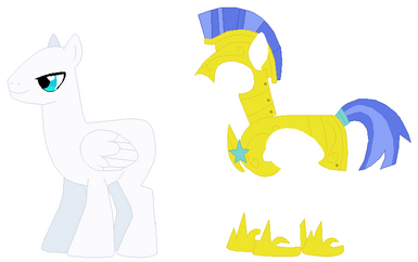 Pegasus pony royal guard base by selenaede-d55dfw0