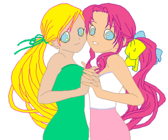 Pinkie Belle And Flutter Spring Anime
