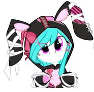 Cotton Heart Equestria Girls - gottic bunny