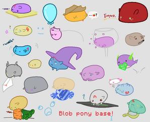 Base blob ponies by blueberrybaskets-d60vosa