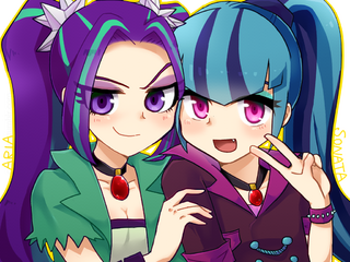Mlp eqg aria and sonata by 00riko-d7uiyo1