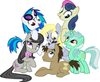 The mane background ponies by hombre0-d4e41kq