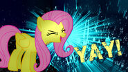 Fluttershy yay wallpaper recolored by tarindel-d4r86d1