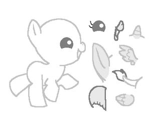 Baby pony base by kimorah-d4mwby8