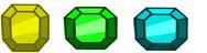 3 gemas
