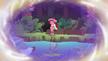Gloriosa Daisy crying in the waterfall grotto EG4