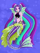 Aria blaze siren colour by deathladyshinigami-d84nebu