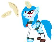 Cristal sky con un cosplay de kagome