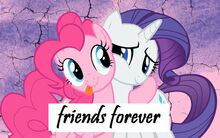FANMADE Pinkie Pie and Rarity friends forever