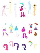 Cotton Heart Equestria Girls - coball dreesess