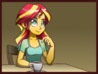 Sunset cafe by gabbslines-d9hinuy