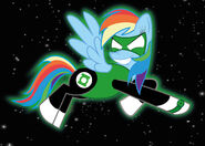 Green lantern rainbow dash by avellante-d4paw6a