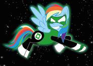 Green lantern rainbow dash by avellante-d4paw6a