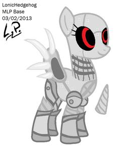 Mecha pony base by lonichedgehog-d5tol4y