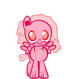 El hairstyle de Pink Mittens
