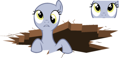 Mlp base pony in a hole by softybases-d5u5dn0