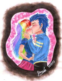 Soarinxdash kiss humanized by janadashie-d8ot4qx