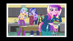 Celestia, Luna, and Cadance eating a cake EG3