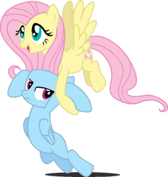 Fluttershydragsyou by softybases-d5u4pfl