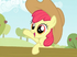 20120124220358!Apple Bloom wearing Applejack's hat 1 S2E14