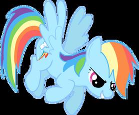 FANMADE Rainbow Dash flying