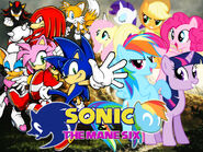 Sonic and the mane six by lightdegel-d53h4gs