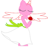 Anthro pony base w- dress and a rose