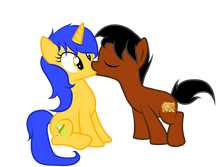Flash Mc And Scoot Kiss By Sirah Says or Sweet Thoughts