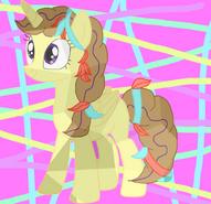Clever wit de cristal pony