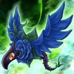Foto dragón de la rosa azul
