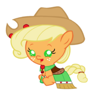 Baby applejack s gala dress by beavernator-d4pg4if