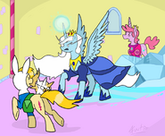 Mlp at fionna and cake to the rescue by fuutachimaru-d4vknfh